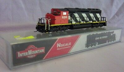 Inter Mountain Sd40-2W Loco Canadain National N Scale  With Dcc.