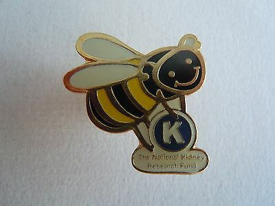 Kidney Research Charity Bee Pin Badge
