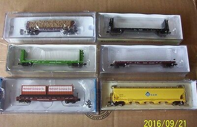Assortment Of Freight Wagons N Scale X 6