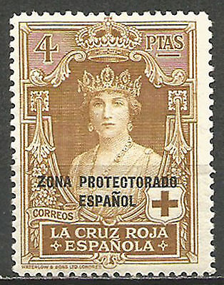 Spain 1926 1927 Spanish Protectorate Morocco Red Cross Queen Victoria 4 Pts 1938