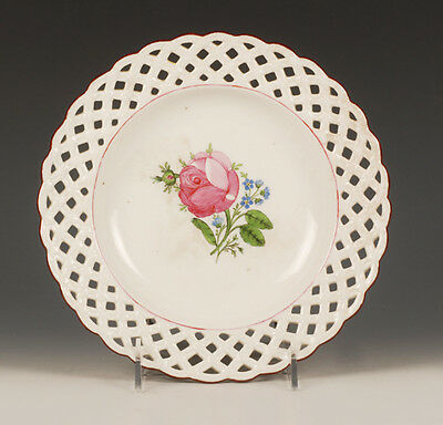 Antique Russian Porcelain Floral Plate Gardner Factory