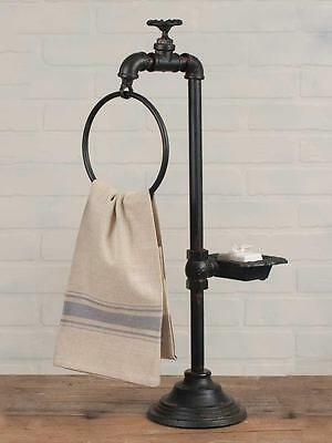 Industrial Spigot Soap and Towel  Holder