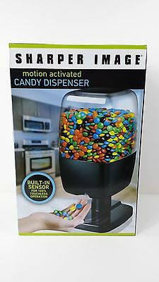 Sharper Image Motion Activated Candy Dispenser M&M's Peanuts Skittles Black New