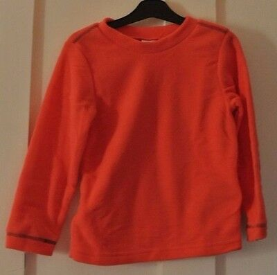 New Decathlon unisex warm soft fleece Orange age 4 years