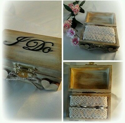 Double Wedding ring box rustic/vintage theme *several styles available* I do