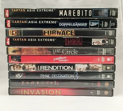 Used 10 Assorted DVDs - Horror/Thriller - No Duplicates!
