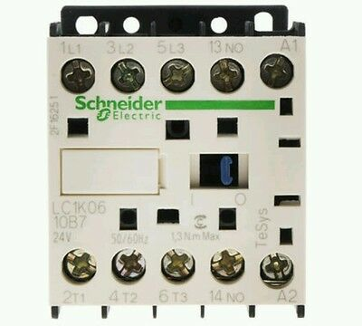 Schneider TeSys LC1 3 Pole Contactor, 6 A, 2.2 kW, 24 V ac Coil