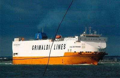 Ship/shipping Photo Of A Freight Vessel Photograph Picture,grimaldi Car Carrier.