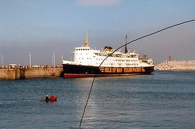 Ship/shipping Photo Of An Isle Of Man Classic Ferry On Photograph Picture.