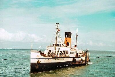 Ship/shipping Photo Of An Isle Of With Ferry Paddle Steamer Photograph Picture.