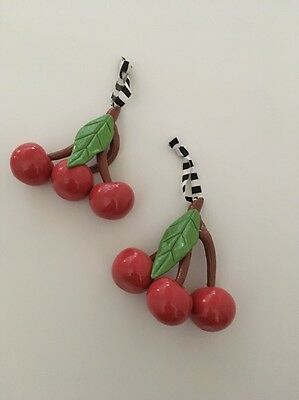 Mary Engelbreit Type Cherries Ornaments Collectible Art Christmas