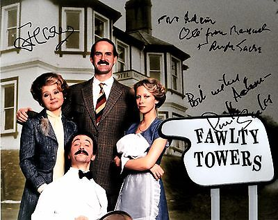 ANDREW SACHS / JOHN CLEESE / PRUNELLA SCALES SIGNED 10x8 PHOTO - Fawlty Towers