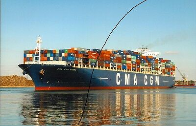 Ship/shipping Photo,cma Cgm Container Vessel Photograph Picture At Southampton.