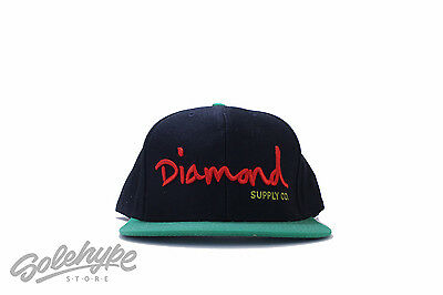 6493b13b2ba Diamond Supply Og Script Logo Snap Back Sz Os Black Red Green Hat Cap