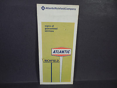 Vintage 1969 Arco Atlantic Richfield Company Road Map Washington Dc Baltimore