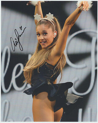 ARIANA GRANDE HAND signed Autographed HOT 8X10 photo w/COA Authentic NR! PN
