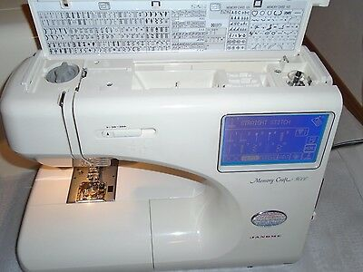 Janome Memory Craft 9000 Computerized Sewing Machine Model 9000 Case/Accessories
