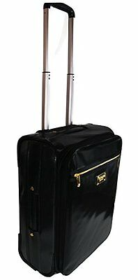 Victoria's Secret Jet Set Trolley Black Coated Canvas/ Carry On/Luggage