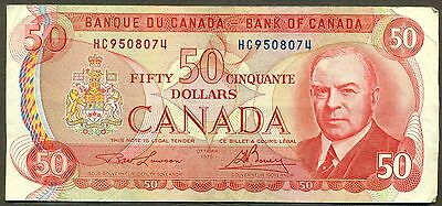 1975 Bank of Canada $50 RCMP Musical Ride, Lawson/Bouey HC9508074