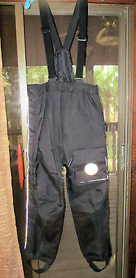 Genuine HARLEY-DAVIDSON Rain Gear RIDING PANTS M Overalls REMOVEABLE ADJ STRAP