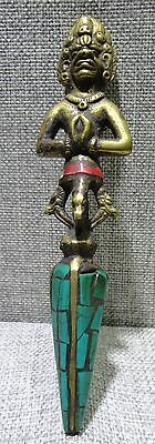 Old sword weapon Buddhism Taoism China unique exorcism turquoise copper