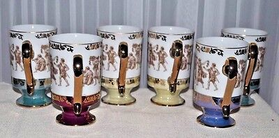 1970s Mugs Cups Royal Crown Arnart Smug Mugs Greek Classics Set of 6