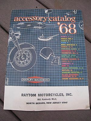 Vintage 1968 Harley Davidson Motorcycle Accessory Catalog