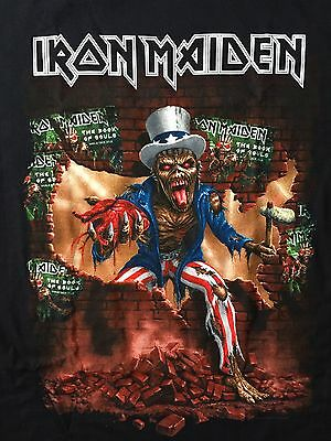 IRON MAIDEN Book of Souls North America Tour T-Shirt Men's XL X-LARGE BRAND NEW