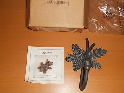 NIB Longaberger Toboso Wrought Iron Single Wall Hook Metalworks