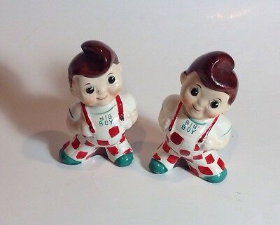 1950's Vintage Ceramic Big Boy Salt and Pepper Shakers