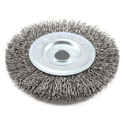 Forney 72742 Wire Wheel Brush, Coarse Crimped with 1/2-Inch Arbor, 4-Inch-by-.01