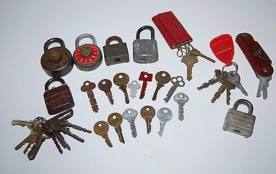 Keys Locks Combination Key Chain Padlock Key Lock Assorted