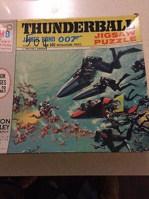 Vintage James Bond 007 Puzzle from 1965 Thunderball Loose