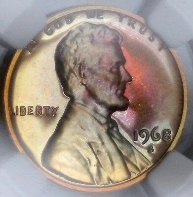 1968-S Proof Memorial Cent - NGC PF67 RB - TONED
