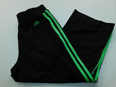 Adidas Boys Sweatpants Green Size S SMall Kids youth Athletic 3 Stripe Soccer