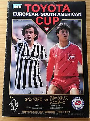 1985 Toyota Cup Final Programme - Juventus v Argentinos Juniors