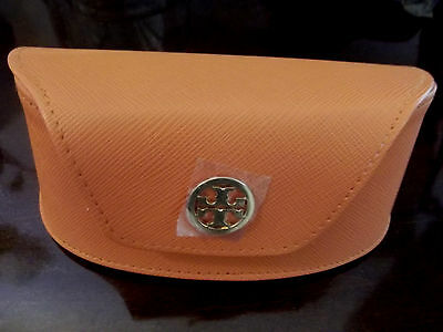 Tory Burch Sunglasses case luggage brown Saffiano leather