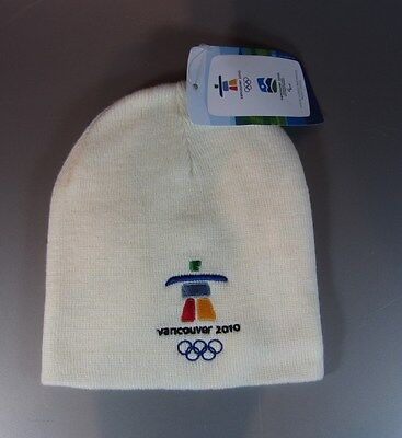 VANCOUVER 2010 Winter OLYMPICS Games Beanie Color - POWDER New 0/S Unisex