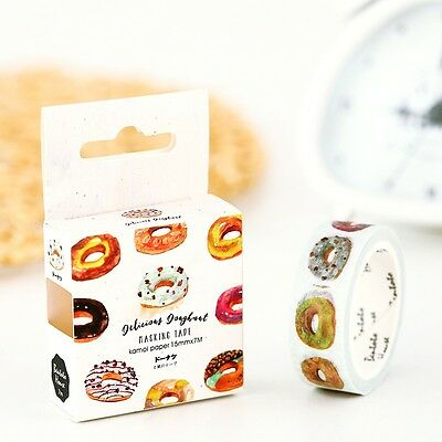 Delicious Donut Decorative Flower Tape Home Office DIY Scrapbooking Masking Tape