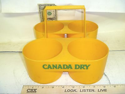 very old advertising CANADA DRY 4 PACK SODA CARRIER VERY NICE SHAPE