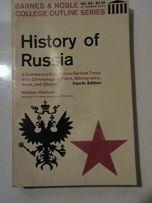 History of Russia by Walther Kirchner (1966, Paperback)
