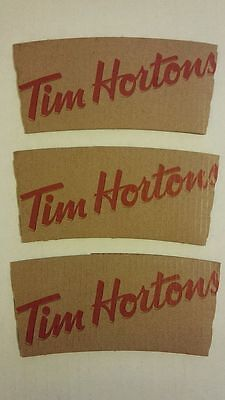 TIM HORTONS CARDBOARD HOT BEVERAGE SLEEVE Lot 3 Recycle Coffee Cup Donut  MOC