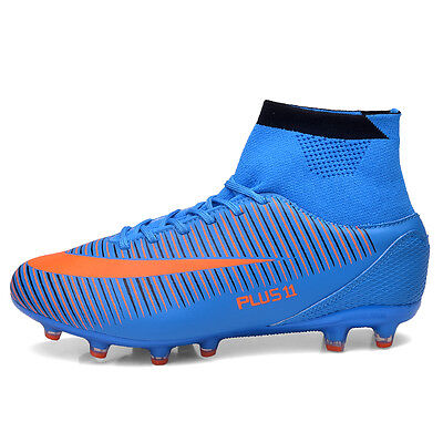 Men's AG Sole Cleats Outdoor High Ankle Football Boots Shoes Soccer Cleats