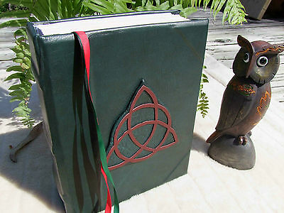 Book of Shadows Leather Binder Handmade - Witches Hotline