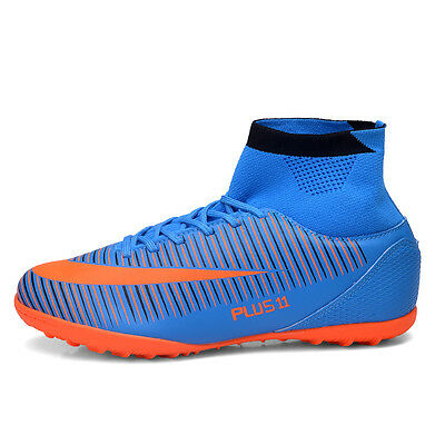 Men's High Ankle Turf Sole Cleats Indoor Football Boots Shoes Soccer Cleats