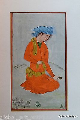 Rare Hand Painted Fine Decorative Collectible Indian Miniature Painting. G77-23