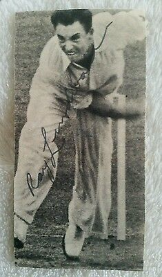Very Rare Ray Lindwall Signed In Person Near Cut England Cricket Ashes