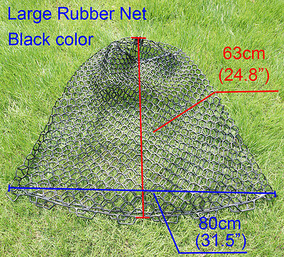 """Large Clear Rubber Fishing Mesh Replacement Landing Net Circumference 160cm 63"""""""