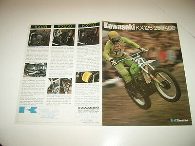 Kawasaki Kx 125/250/400 Brochure,prospekt,catalogue