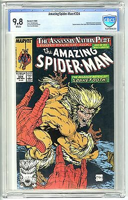 Amazing Spider-Man #324 (11/1989) Cbcs 9.8 Nm/mt White Pages Sabretooth  Not Cgc